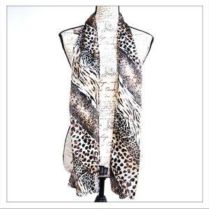 Cejon 100% Polyester Leopard Print Scarf
